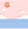 the backdrop is natural sea and sky paper vector image vector image