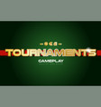 tournaments word text logo banner postcard design vector image vector image