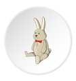 Toy bunny icon cartoon style vector image