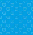 tv screen pattern seamless blue vector image
