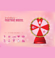 valentine spinning fortune wheel vector image