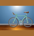 vintage bicycle in the room vector image