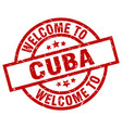 welcome to cuba red stamp vector image vector image