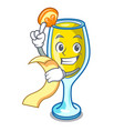 with menu mimosa mascot cartoon style vector image
