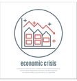 icon on a theme of economic crisis with house vector image