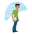 Guy With a Laptop vector image
