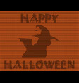 happy halloween of black cat in witch hat and vector image