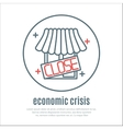 icon on a theme of economic crisis with market vector image