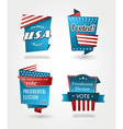 Set of four presidential election badges vector image
