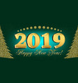 2019 happy new year flyers and greetings card or vector image vector image