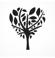Abstract Heart Shaped Tree on White Background vector image vector image