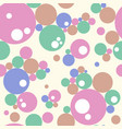 abstract seamless colorful bubbles pattern vector image