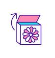 baby busy box rgb color icon vector image