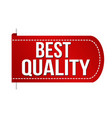 best quality banner design vector image vector image