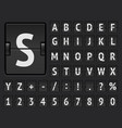 black airport terminal mechanical scoreboard font vector image vector image