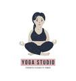 body positive yoga concept vector image vector image