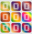 Book icon Nine buttons with bright gradients for vector image vector image