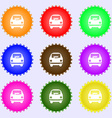 Car icon sign Big set of colorful diverse vector image vector image