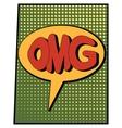cartoon green omg vector image vector image