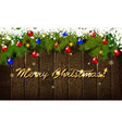 christmas and new year typographical vector image vector image