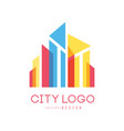 city logo modern design of real estate and vector image vector image