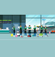 cleaning in airport vector image