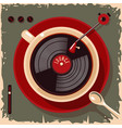 coffee cup with vinyl record lounge cafe bar vector image vector image