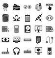 computer server icons set simple style vector image vector image