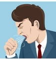 Coughing man vector image
