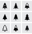 cristmas trees icons set vector image