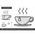 Cup of tea line icon vector image
