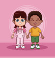 cute kids cartoons vector image vector image
