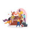 farmers market concept for web banner vector image