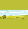 fields panorama flat vector image