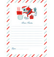 funny letter to santa claus template vector image