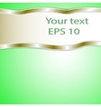 graphic green background for text and message vector image vector image