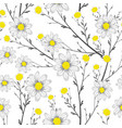 grayscale bouquet chamomile seamless white vector image