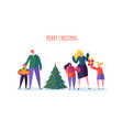 happy family celebrating christmas new year party vector image