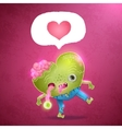 Happy Valentines card with zombie heart vector image vector image