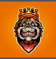 head a bulldog in crown vector image