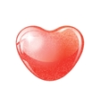 Heart red shape on white background vector image vector image