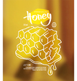 Honeycomb label vector image