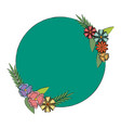 label badge flower decoration empty vector image
