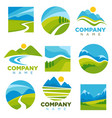 landscape logotypes set with space for company vector image vector image