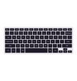 laptop qwerty keyboard with black key buttons vector image vector image