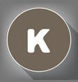 letter k sign design template element vector image
