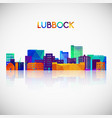 lubbock skyline silhouette in colorful geometric vector image vector image