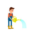 male farmer watering icon vector image