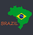 map of brasil icon flat of icon for web on yellow vector image vector image