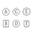 Modern line labels and emblems vector image